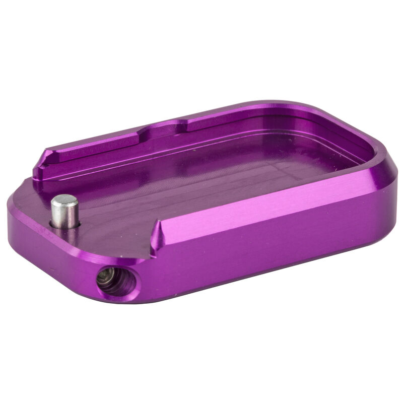 Taran Tactical GLOCK 9mm/40 Full Sized Base Pad Plus Zero Rounds Models Aluminum Titanium Purple Finish