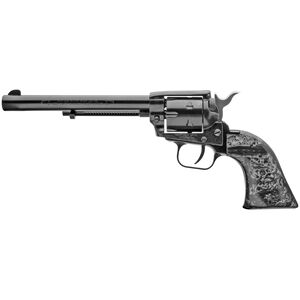 """Heritage Manufacturing Rough Rider .22 LR Rimfire Revolver 6.5"""" Barrel 6 Rounds Black Pearl Grips Blued Finish"""