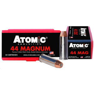Atomic .44 Magnum Ammunition 50 Rounds 240 Grain Bonded Match Hollow Point 1500fps