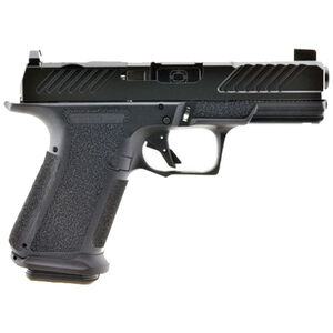"""Shadow Systems MR920 Combat 9mm Luger Compact Semi Automatic Pistol 4"""" Barrel 15 Rounds Optic Cut Slide Tritium Night Sights Polymer Frame Black/Black Finish"""