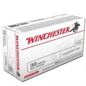 Winchester USA .38 Special Ammunition 500 Rounds, JSP, 125 Grains