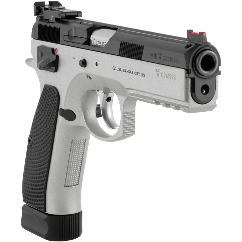 "CZ 75 SP-01 Shadow Custom Semi Auto Pistol 9mm Luger 4.6"" Barrel 19 Rounds Aluminum Grips Dual Tone 91708"