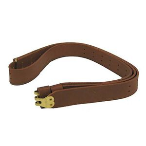 """Hunter Military Sling for 1.25"""" Swivels Leather Brown 200-125"""