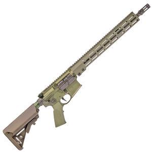 "Geissele AR-15 Super Duty SD556 5.56 NATO Semi Auto Rifle 14.5"" Barrel Pin/Welded 16"" OAL No Magazine 13.5"" Free Float M-LOK Hand Guard B5 SOPMOD Stock OD Green"