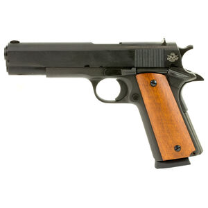 "Rock Island Armory 1911 Semi Auto Handgun 9mm Luger 5"" Barrel 9 Rounds Steel Parkerized Wood Grips"