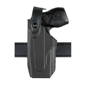 Safariland Model 7520 Axon Taser X26/X26P 7TS SLS EDW Clip-On Belt Holster Left Hand SafariSeven Plain Black