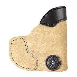 Desantis 111 Pocket-Tuk Beretta Nano Ruger LC-9 Pocket Holster Right Hand Tan Leather/Kydex 111NAV5Z0