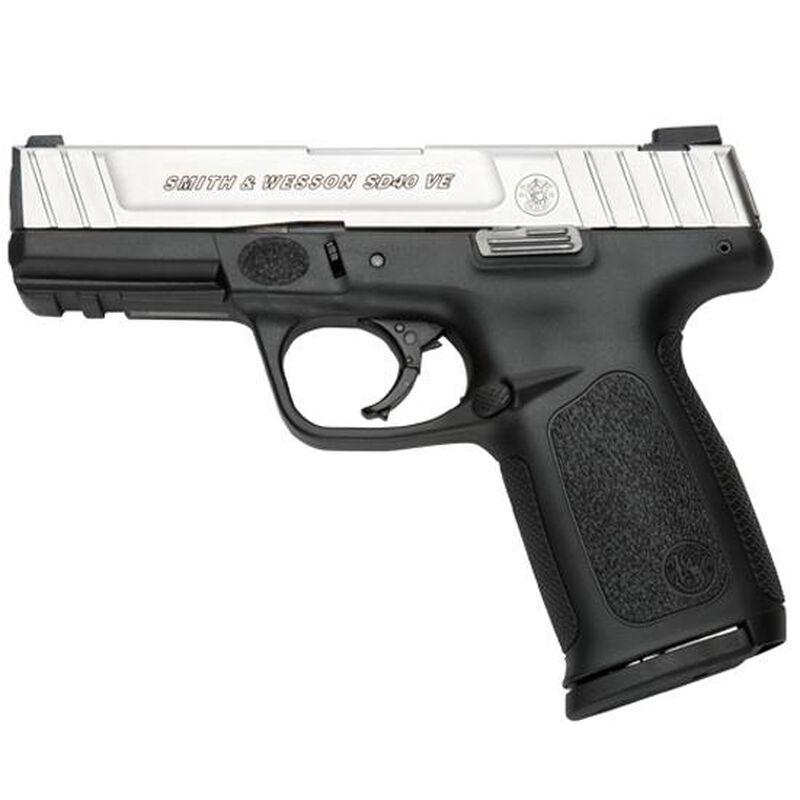 "S&W SD40 VE .40 S&W Semi Auto Pistol 4"" Barrel 14 Rounds Stainless Slide Black Polymer Fame"