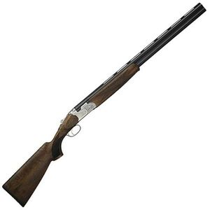 "Beretta 686 Silver Pigeon I O/U Break Action Shotgun 12 Gauge 26"" Vent Rib Double Barrel 3"" Chambers 2 Rounds Low Profile Engraved Silver Receiver Walnut Stock with Schnabel Forend Blued Barrel Finish"