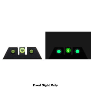 Night Fision Glow Dome Tritium Night Sight Front Sight Fits SIG Sauer P-Series Models With #8 Front Sight Green Tritium/Yellow Ring Metal Body Black Finish