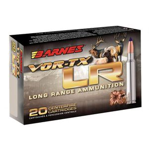 Barnes VOR-TX Long Range .375 Remington Ultra Magnum Ammunition 20 Rounds 270 Grain LRX Boat Tail Lead Free 2980fps
