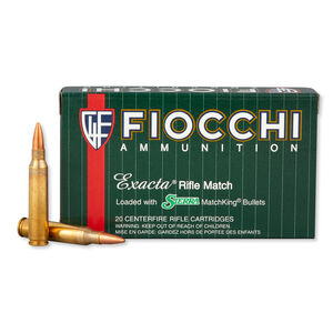 Fiocchi Exacta Match .223 Rem Ammunition 77 Grain Sierrra Match King HPBT 2725 fps