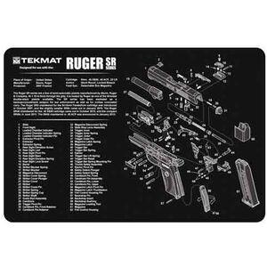 """TekMat Armorer's Bench Mat Neoprene/Cloth 11""""x17"""" Ruger SR9 17-RUGERSR9"""