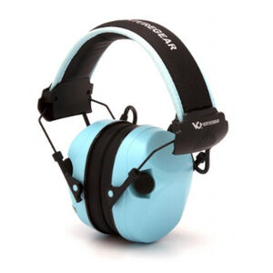 Pyramex VGPME26 Sentinel Electronic Earmuff 26dB Noise Reduction Rating 2 AAA Batteries Blue Finish