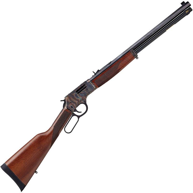 "Henry Big Boy Color Case Hardened Lever Action Rifle .45 LC 20"" Octagon Barrel 10 Rounds Adjustable Sights Walnut Stock Color Case Hardened/Blued Finish"