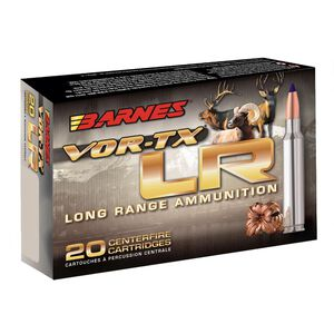 Barnes VOR-TX Long Range 6mm Creedmoor Ammunition 20 Rounds 95 Grain LRX Boat Tail Lead Free