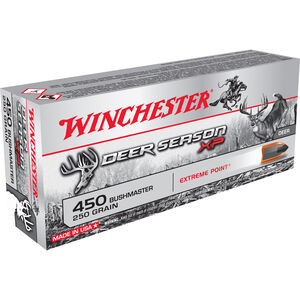 Winchester .450 BM Ammunition 20 Rounds Deer Season XP PT 250 Grains