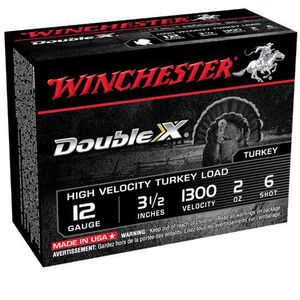 "Winchester Double X 12 Ga 3.5"" #6 Lead 2oz 10 Rounds"