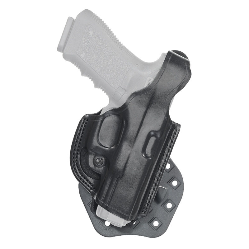 Aker Leather 268 FlatSider Paddle XR17 GLOCK 19/23 Belt Holster Right Hand Leather Plain Black H268BPRU-GL1923