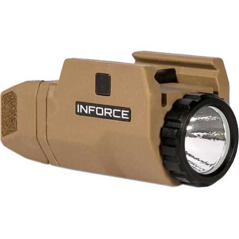 INFORCE APLc Compact Rail Mounted LED Tactical Light 200 Lumens Flat Dark Earth AC-06-01