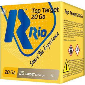 "RIO Ammunition Top Target 20 Gauge Ammunition 250 Rounds 2-3/4"" Shell #7.5 Lead Shot 7/8oz 1250fps"