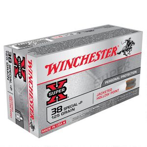 Winchester Super X .38 Special +P Ammunition 50 Rounds, HP, 125 Grains