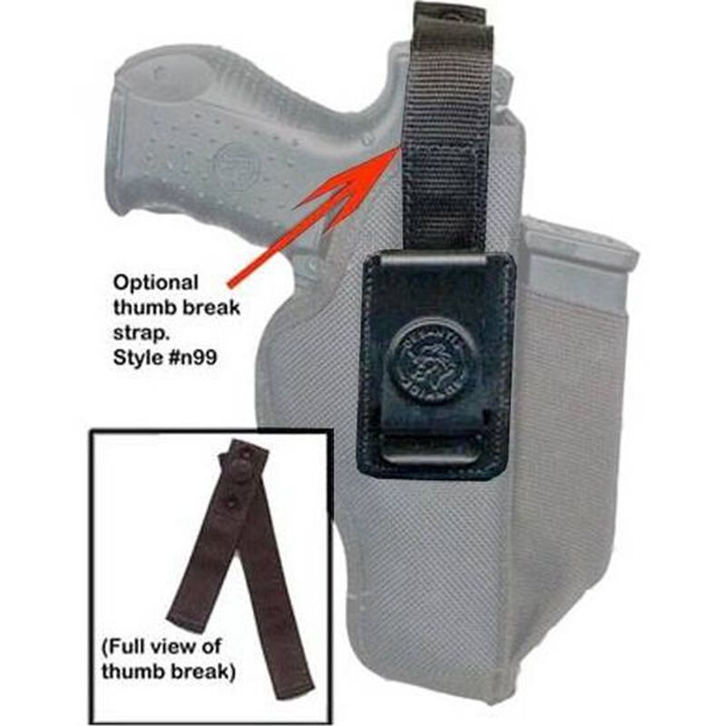 DeSantis Thumb Break Strap with Snap Closure for N87 Holster Small Nylon Black N99BJG1Z0