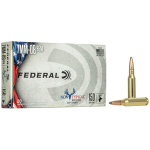 Federal Non-Typical 7mm-08 Rem Ammunition 20 Rounds 150 Grain SP Bullet 2650fps