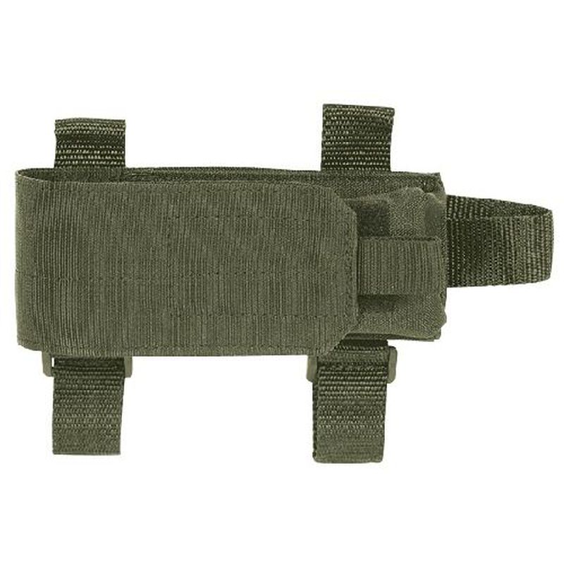 Voodoo Tactical Buttstock Magazine Pouch Holds One AR-15 Type 30 Rounds Magazine Fits Most Stocks Nylon OD Green 929004000