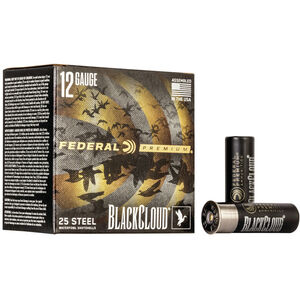 "Federal Black Cloud FS Steel 12 Gauge Ammunition 3"" #2 1-1/4 Ounce Steel Shot 1450 fps"