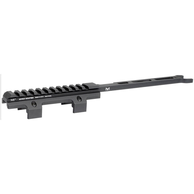 Midwest Industries HK MP5/Clones Top Rail Cover One Piece Drop In Picatinny/M-LOK Compatible Rail 6061 Aluminum Hard Coat Anodized Finish Matte Black