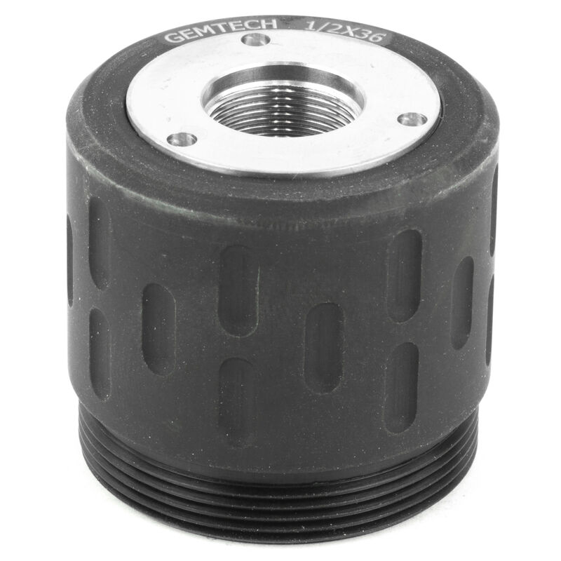 Gemtech Threaded Rear Mounts For Use With Gemtech GM-45/Blackside Suppressor 1/2x36 Thread Matte Black