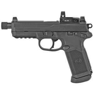 "FN FNX-45 Tactical Semi Auto Handgun .45 ACP 5.3"" Threaded Barrel 10 Rounds Fixed 3 Dot Night Sights Vortex Venom Red Dot Ambidextrous Black"