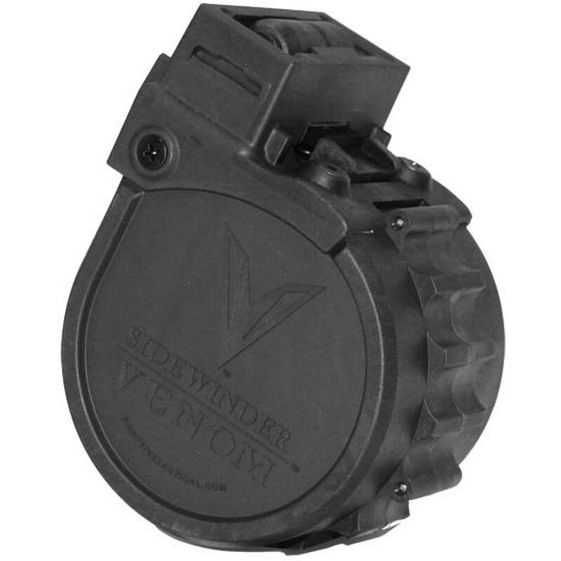 "Adaptive Tactical Sidewinder Venom 12 Gauge Rotary Magazine 10 Rounds 2 3/4"" Polymer Black AT-00902"