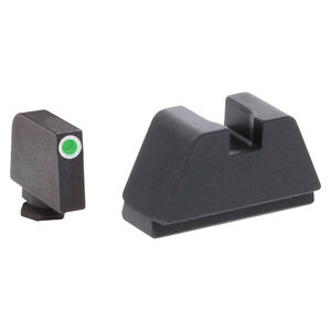 Ameriglo 2XL Tall Sight Set for GLOCK Green Tritium Front Dot with White Outline and Flat Black Rear