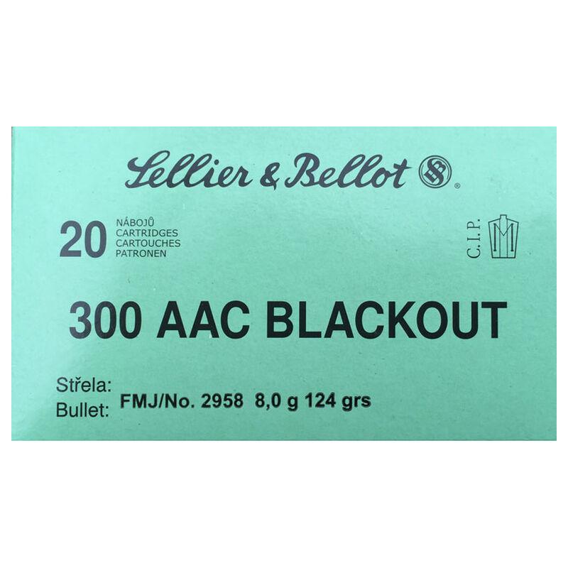 Sellier & Bellot .300 Blackout Ammunition 20 Rounds FMJ 124 Grains SB300BLKA