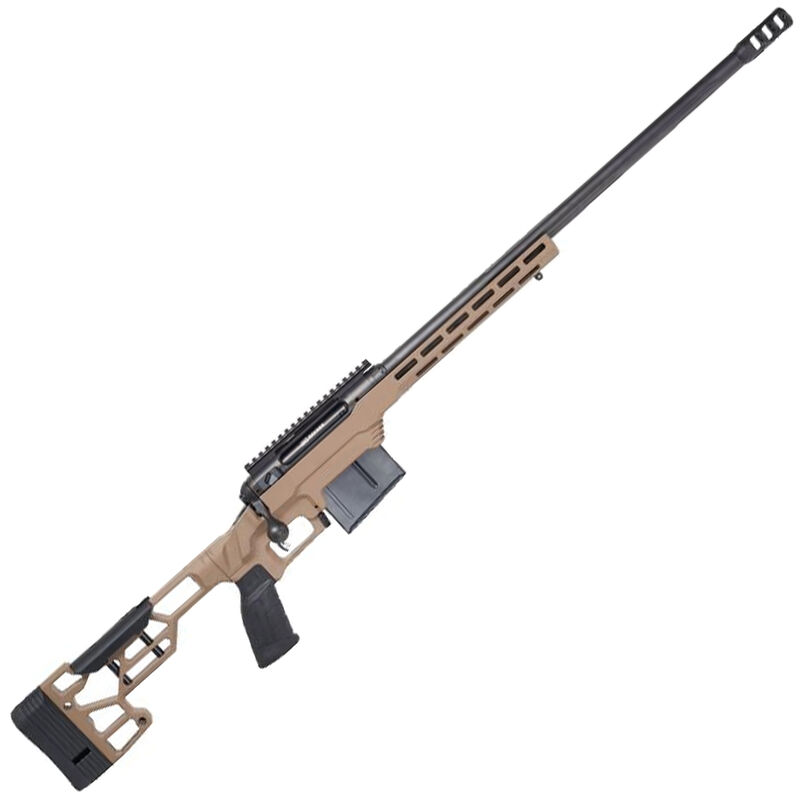 """Savage Firearms 110 Precision .308 Winchester Bolt Action Rifle 20"""" Heavy Barrel 8 Rounds AICS Pattern DBM MDT LSS XL Chassis Flat Dark Earth"""