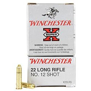 Winchester Super X .22LR Ammunition 50 Rounds, #12 Shotshell