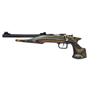 "Chipmunk Bolt Action Rimfire Handgun .22 LR 10.5"" Barrel 1 Round Laminate Camo Wood Blue Barrel"