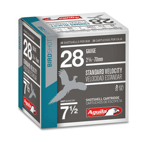 "Aguila Game Load 28 Gauge Shotshells 25 Rounds 2 3/4"" 1 oz #7 Shot 1CHB2837"