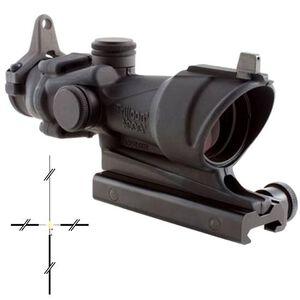 Trijicon ACOG TA01NSN 4x32 Riflescope Illuminated Amber Crosshair .223 Ballistic Reticle 1/2 MOA Aluminum Black with TA51 Mount and Backup Iron Sights TA01NSN