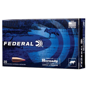 Federal Varmint & Predator .308 Winchester Ammunition 20 Rounds 110 Grain Hornady V-Max Projectile 3300fps