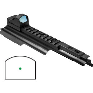 NcSTAR AK-47 Green Micro Dot Mount - AK Receiver Cover with Picatinny Rail Reflex Sight with 2 MOA Dot Size Fits Stamped Receiver Steel/Aluminum Black