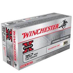 Winchester Super X .357 Magnum Ammunition 50 Rounds, Silvertip HP, 145 Grain
