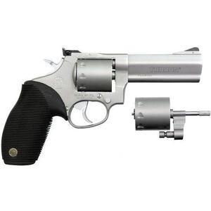 "Taurus Tracker 992 Double Action Revolver .22LR/.22 WMR 4"" Barrel 9 Rounds Fixed Front Sight/Adjustable Rear Sight Ribber Grip Matte Stainless Steel Finish"