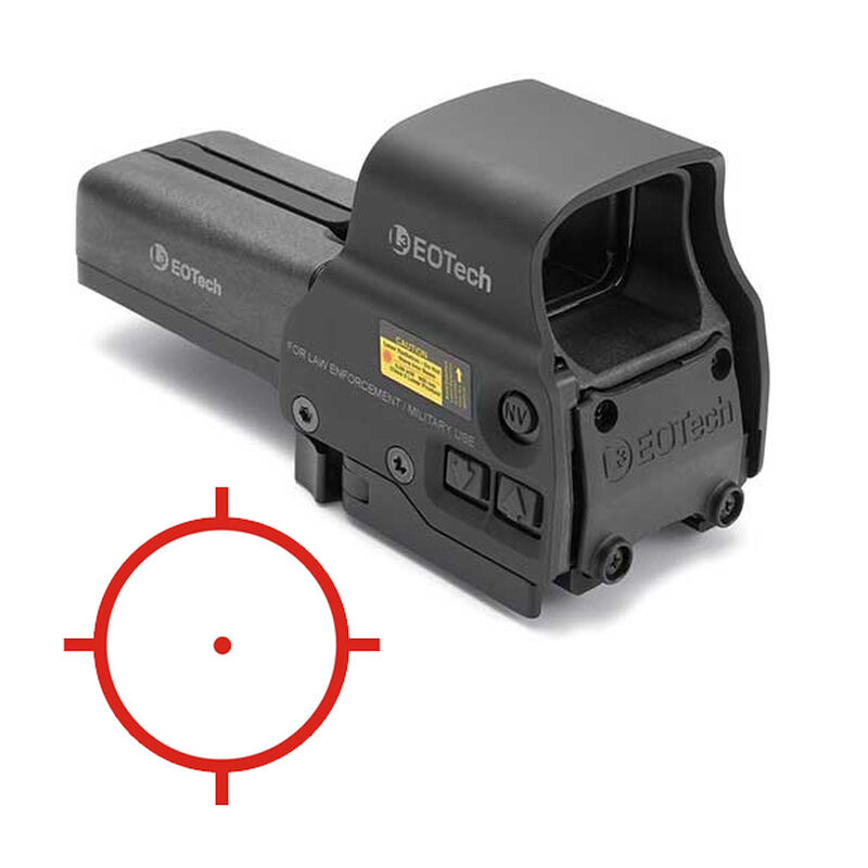 EOTech 558 Red Dot Sight 1 MOA Dot/68 MOA Ring Night Vision Compatible Matte Black 558.A65