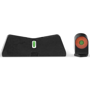 XS Sights DXT2 Big Dot Night Sights GLOCK 17/19/26 Green Tritium Front With Orange Ring/Tritium Stripe Rear Matte Black