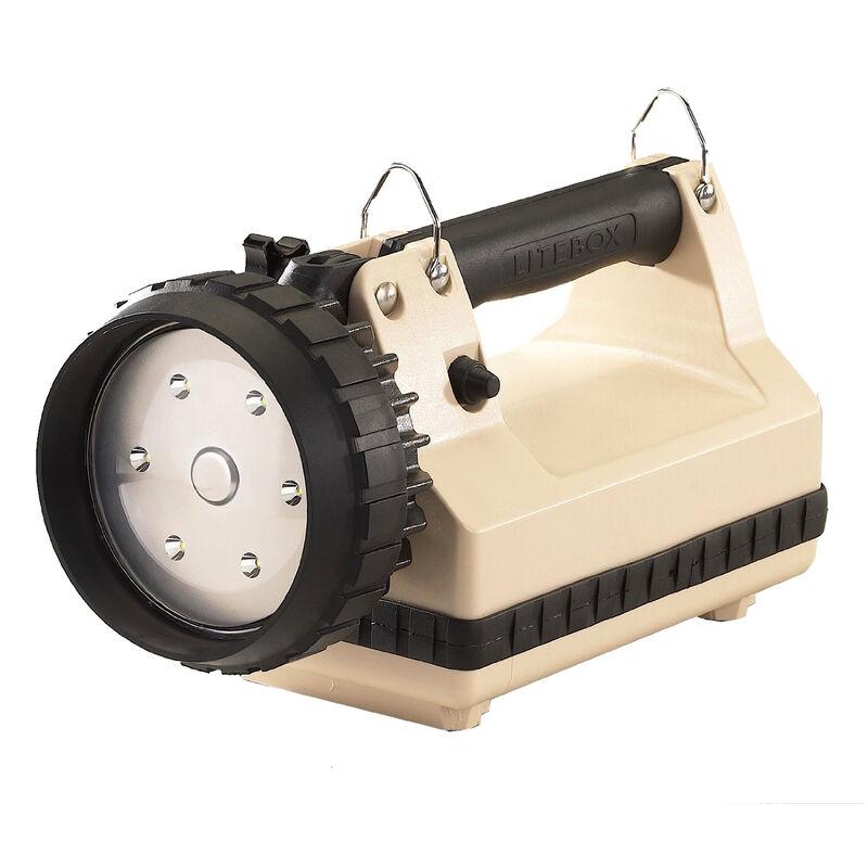 Streamlight E-Flood LiteBox Flood Light White LED 615 Lumen Rechargeable Battery Power Failure Charger Beige