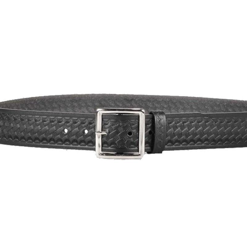 "DeSantis Econoline Garrison Belt 1.75"" Leather Nickel Buckle Size 44 Basket Weave Black"