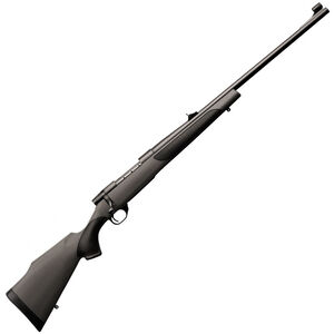 """Weatherby Vanguard Synthetic Bolt Action Rifle .375 H&H 3 Rounds 24"""" Barrel with Sights Synthetic Stock Matte Blued Finish"""